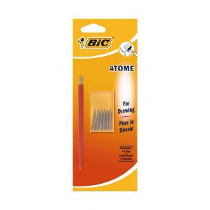 Porte-plume BIC ATOME + 6 plumes