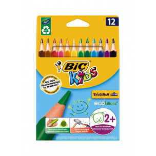 Crayons de couleur triangulaire Bic Kids EVOLUTION TRIANGLE - étui de 12