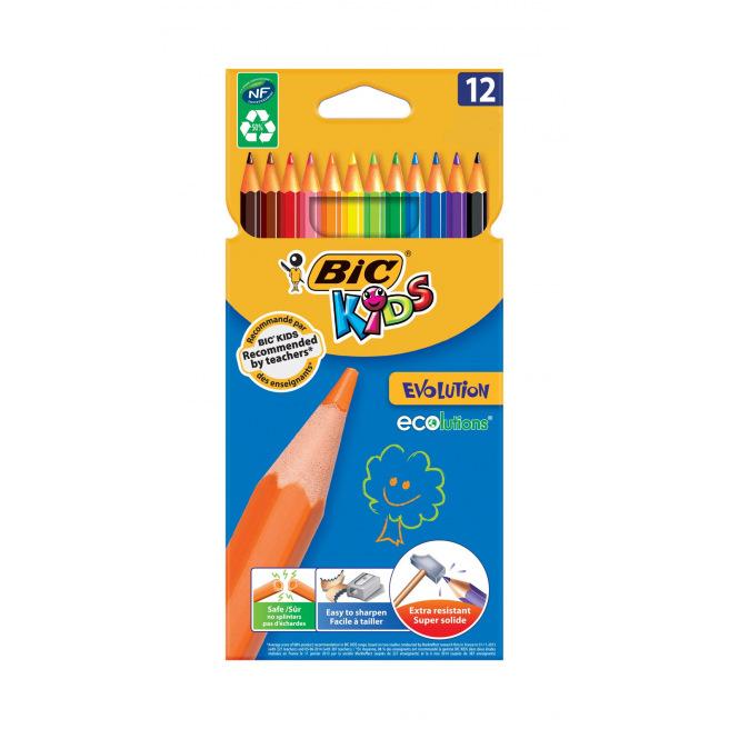 Crayons de couleur BIC KIDS EVOLUTION