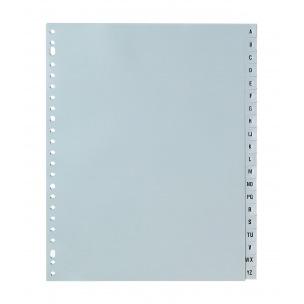 Intercalaires à onglets alphabétiques - plastique gris