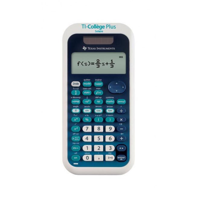 Calculatrice scientifique TEXAS INSTRUMENTS TI-COLLEGE PLUS