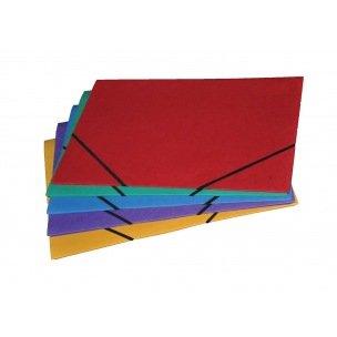 Farde à rabats et élastiques Class'Ex en carton - 32 x 42 cm