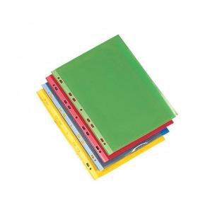 Pochettes perforées  - Paquet de 50 couleurs assorties