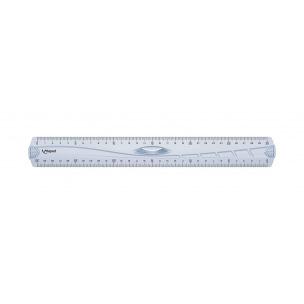 Triple décimètre en plastique Maped GEOMETRIC - 30 cm
