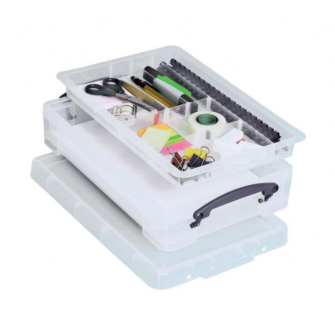 Boîte de rangement REALLY USEFUL BOX - 4 L + plateau de 8 compartiments