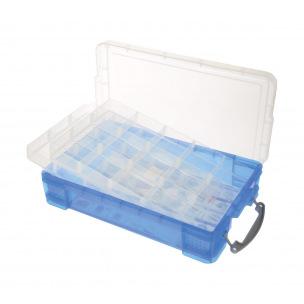 Boîte de rangement REALLY USEFUL BOX - 4 L + 2 plateaux de 15 compartiments