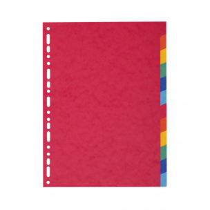 Intercalaires à onglets neutres Exacompta - carton de couleur 220 g