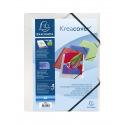 Farde à rabats et élastiques Exacompta KREACOVER personnalisable en plastique - A4