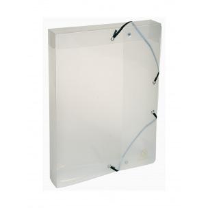 Boîte de classement Exacompta CRYSTAL en plastique - dos 4 cm - A4