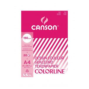 Bloc de papier dessin de couleur CANSON COLORLINE - 150 g