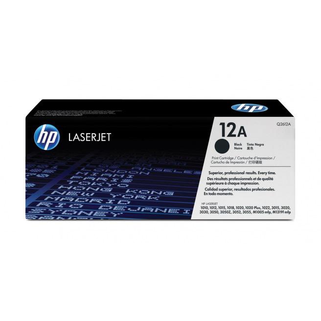 Cartouche laser HP N°12A - Q2612A - noir