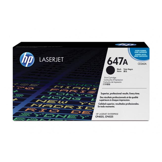 Cartouche laser HP N°647A - CE260A - noir