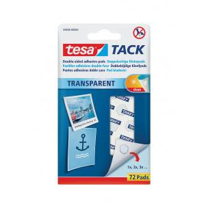 Pastilles adhésives double-face TESA TACK - étui de 72