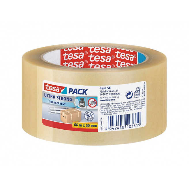 Ruban adhésif d'emballage TESA PACK ULTRA STRONG - 50 mm x 66 m