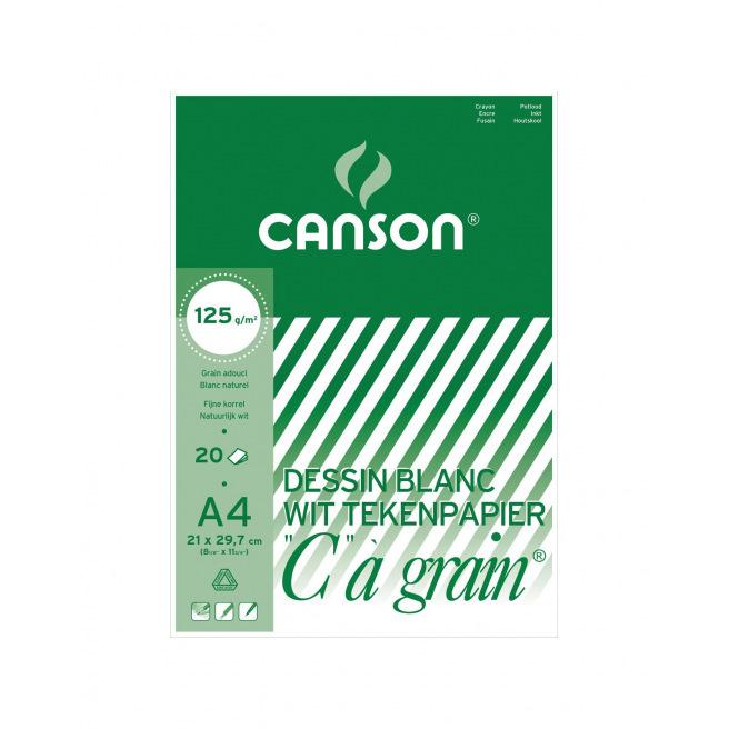 """Bloc de papier dessin CANSON """"C"""" à grain"""