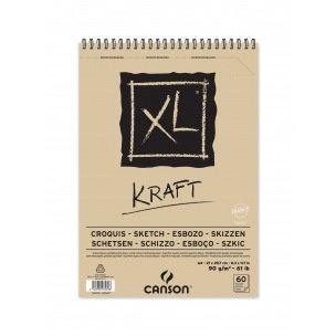Bloc spiralé de papier CANSON XL KRAFT 90 g