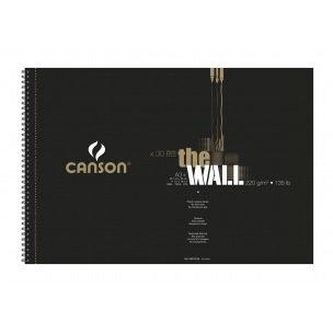 Bloc spiralé de papier dessin CANSON THE WALL 220 g