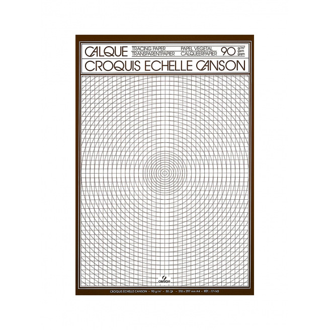 Papier calque Croquis Echelle CANSON - A4 - bloc de 50 feuilles