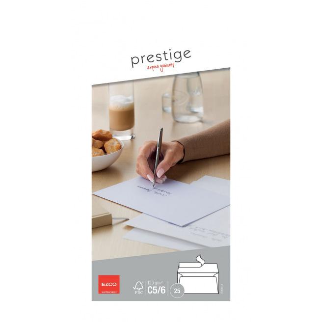 Enveloppes blanches Elco PRESTIGE C5/6 américaines - paquet de 25