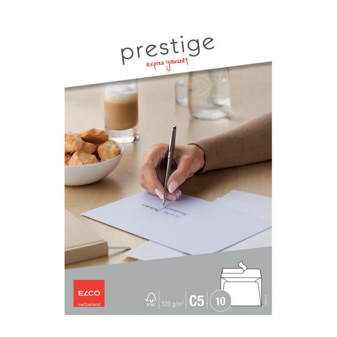 Enveloppes blanches Elco PRESTIGE C5 - paquet de 10