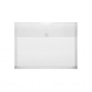 Pochette enveloppe à soufflet FOLDERSYS en plastique transparent - A4