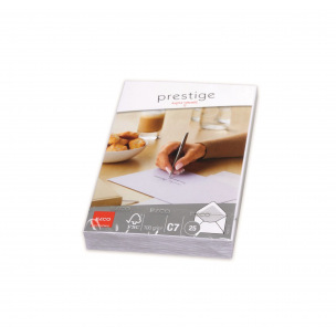 Enveloppes blanches Elco PRESTIGE C7 - paquet de 25