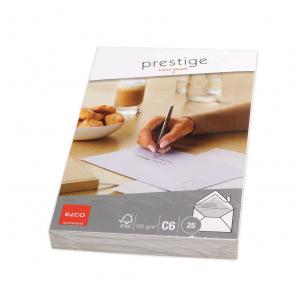 Enveloppes blanches Elco PRESTIGE C6 - paquet de 25