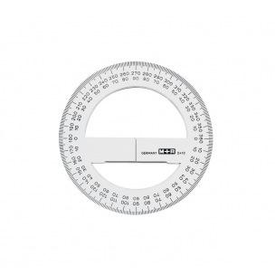 Rapporteur circulaire 360° en plastique M+R - 10 cm