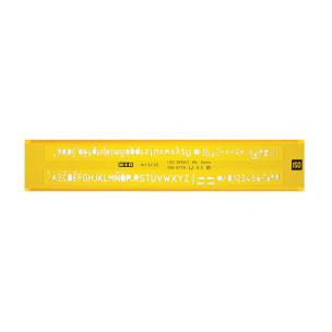 Trace-lettres M+R - hauteur de caractères de 5 mm