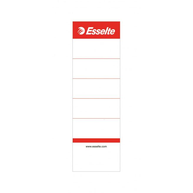 Etiquette en carton pour dos de classeur Esselte