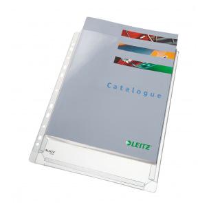 Pochettes perforées grainées à soufflet Leitz Premium A4 - paquet de 5