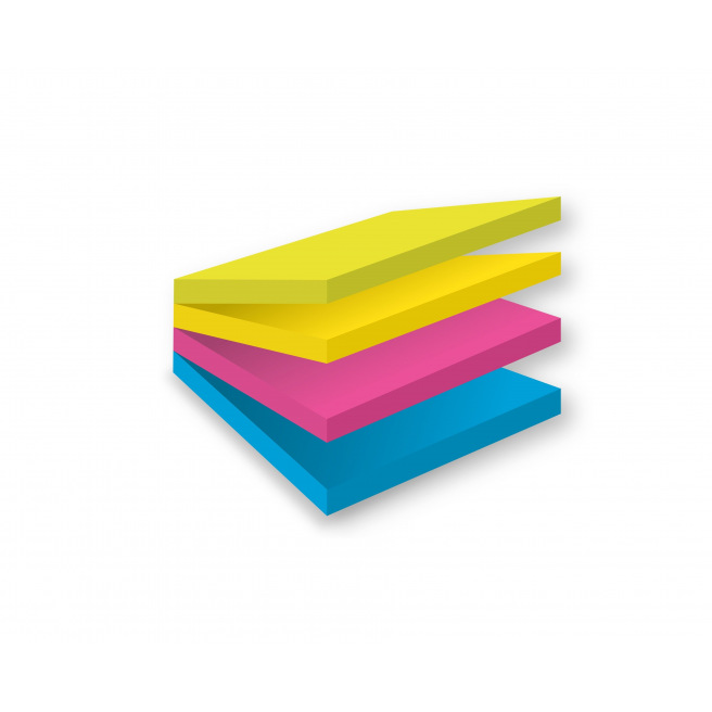 Cube de notes Post-it EASY SELECT - 76 x 76 mm