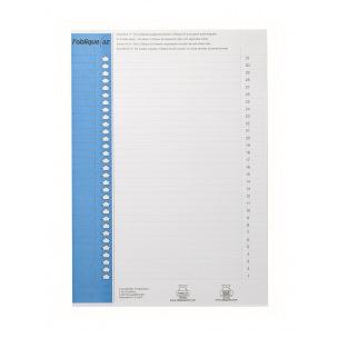 Planche d'étiquettes pour dossiers suspendus Elba N°9 - pour armoire