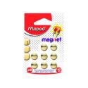 Aimants Maped dorés - diamètre 10 mm - étui de 8