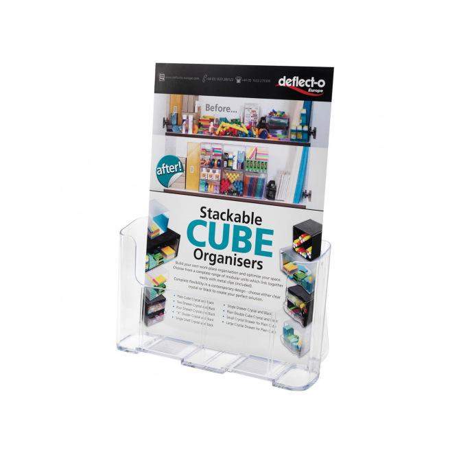 Présentoir porte-brochures transparent
