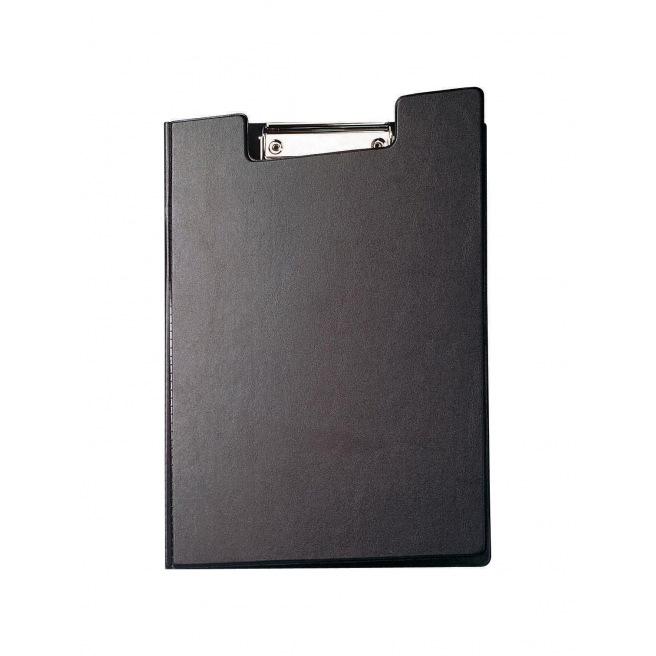 Plaque à pince à rabat en plastique noir A4