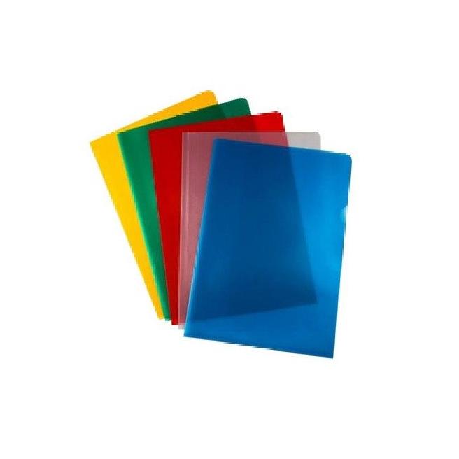 Pochette coin de couleur grainée A4