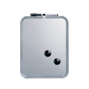 Tableau magnétique argenté Nobo - 36 x 28 cm
