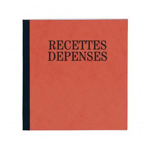 Carnet piqûre RECETTES DEPENSES Exacompta 930E - 19 x 21 cm