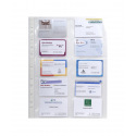 Pochettes perforées A4 pour cartes de visite - sachet de 10