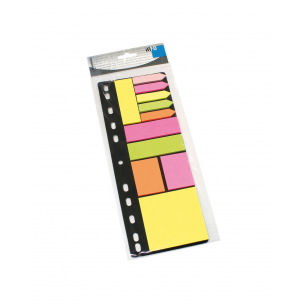 Set d'index et notes repositionnables - assortiment de tailles et couleurs