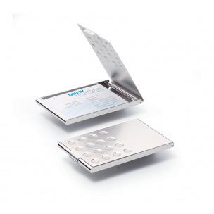 Etui pour cartes de visite Durable en aluminium chromé