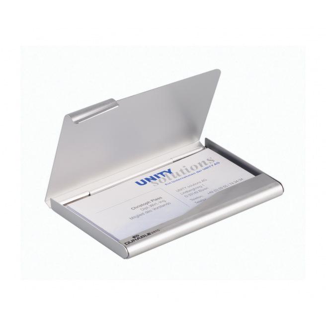 Etui pour cartes de visite Durable en aluminium mat