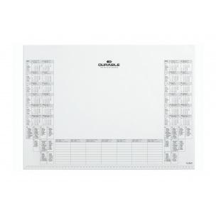 Bloc sous-main en papier avec calendrier Durable