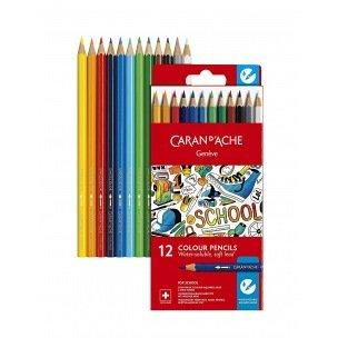 Crayons de couleur Caran d'ache SCHOOL - étui de 12