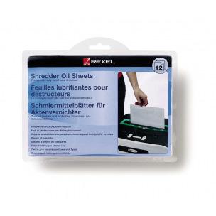 Feuilles lubrifiantes pour destructeurs Rexel - paquet de 12