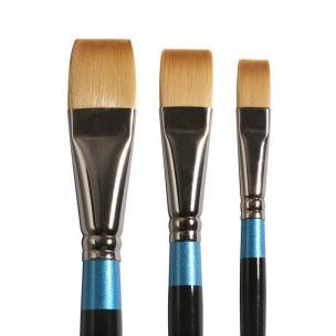 Pinceau Daler-Rowney AQUAFINE - poils synthétiques - série 55 plat court