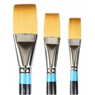Pinceau Daler-Rowney AQUAFINE - poils synthétiques - série 21 plat long