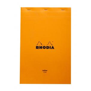 Bloc-notes agrafé RHODIA - feuilles jaunes - A4+ - ligné