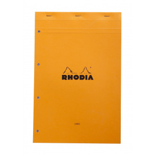 Bloc-notes agrafé RHODIA - perforation 4 trous - A4+